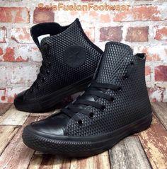 cf4da5cf108e Converse Womens All Star Embossed Shoes Black sz 5 Hi Top Sneakers US 7 EU  37.5