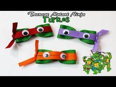 DIY Teenage Mutant Ninja Turtle hair clips | TMNT hair bows - YouTube