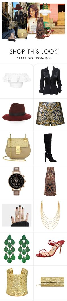 """""""Different Climates"""" by julcsi312 ❤ liked on Polyvore featuring Alexander McQueen, Ossie Clark, rag & bone, Alice + Olivia, Chloé, GUESS, Olivia Burton, Etro, White House Black Market and Siman Tu"""
