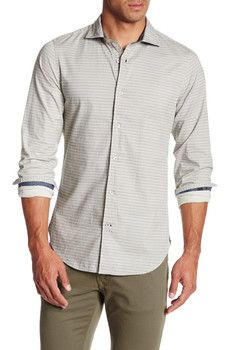Ganesh - Long Sleeve Scalloped Print Shirt