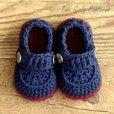 Crochet patterns  Baby Boy Boot  The Sailor   di TwoGirlsPatterns