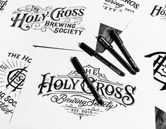 Collection of hand-drawn Logotypes from 2015