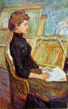 Henri de Toulouse-Lautrec, Modella nello studio - Helene Vary, cm. 75 x 50, Kunsthalle di Brema