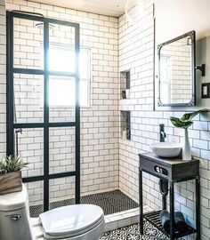 """4,223 Likes, 37 Comments - Rue (@ruemagazine) on Instagram: """"This bathroom is SO. GORGEOUS. See the (dare we say) shocking before & after on #ruedaily now!…"""""""