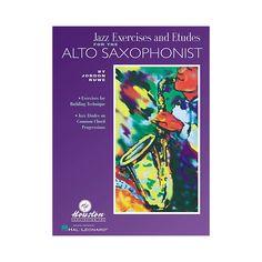 Houston Publishing Jazz Exercises and Etudes for the Alto Saxophone