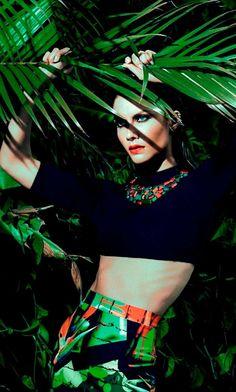 Vibrant Vacationing Editorials : Elle Brazil Summer Love