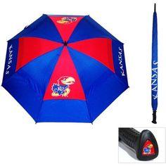 Team Golf Ncaa Kansas Golf Umbrella, Blue