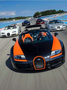 Visit The MACHINE Shop Café... ❤ Best of Bugatti @ MACHINE ❤ (Five Flying Bugatti ƎB Veyron's)