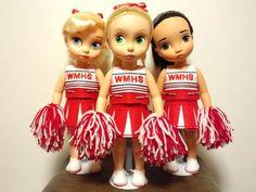 McKinley's cheerleaders with : Rapunzel as Quinn, Cinderella as Brittany and Pocahontas as Santana! Good idea.