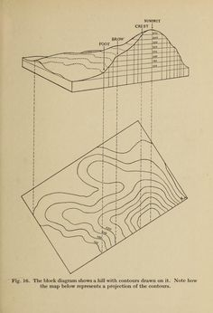 From a drawing of a hill with contour lines added to a contour map. From a drawing of a hill with contour lines added to a contour map. Architecture Mapping, Architecture Graphics, Architecture Drawings, Landscape Architecture, Landscape Design, Contour Line, Contour Drawing, Fig Drawing, Drawing Tips