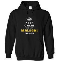 nice Keep Calm and Let MALECKI Handle It