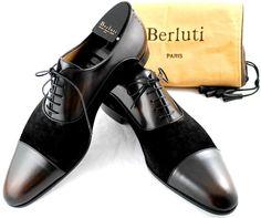 "NEW! BERLUTI ""Triptyque"" PIERRE '2Tone Black&Brown' Suede & Leather Shoes UK 11 | eBay"