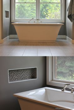 Relaxing after a long day in this gorgeous spa tub sounds as amazing as it looks! Complete #bathroom #remodeling for the entire #QuadCities region.    |    VillageHomeStores.com