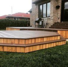 Cedar Patio Project  . .  #carpentry#design#cedarcottage#knottycedar#renovation#outdoorliving#patiorenovation#patio