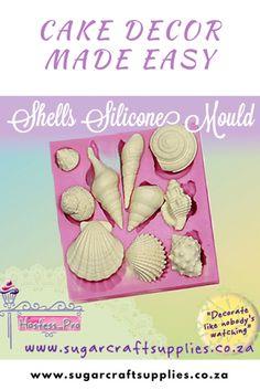 Seashells Mould Www.sugarcraftsupplies.co.za Sugar Craft, Seashells, Silicone Molds, Make It Simple, Cake Decorating, Easy, Crafts, Conch Shells, Manualidades