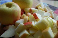 Chopped Honeycrisp Apples for Applesauce