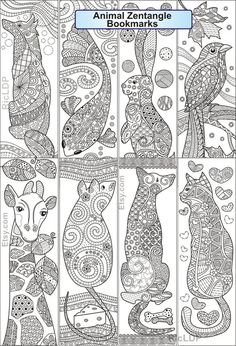 Animal Coloring Pages, Coloring Book Pages, Coloring Sheets, Free Printable Bookmarks, Bookmarks Kids, Handmade Bookmarks, Corner Bookmarks, Quilling Patterns, Quilling Designs
