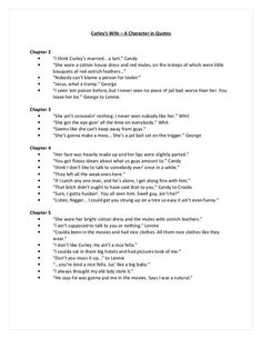 explore the ways steinbeck portrays curley s wife Of mice and mencurley's wife free powerpoint templates page 1 how does steinbeck present curley's wife as a lonely characterskilled work 6 sections – perfect • identify features of steinbeck's use ofwill p the author is, perhaps, exploring the idea of the author is explaining, illustrating.