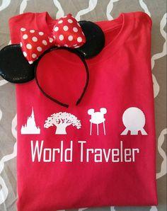 World Traveler T-shirt - Disney World inspired