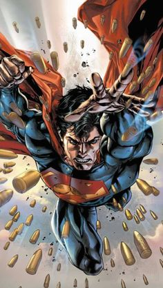 Superman by Stephen Segovia Superman's surreal body meets a surreal bullet assault. Muscles can be stronger than bullets if large enough!