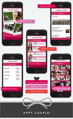 Customized wedding app from Appy Couple  http://www.weddingchicks.com/2013/03/26/customized-wedding-app/