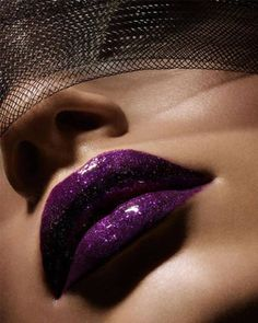Take your purple lip from Goth to funky by adding high shine and a light sparkle!