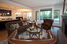 Preston Home - open living area Open Living Area, Preston, Neutral, Dining Table, Houses, Furniture, Color, Home Decor, Homes