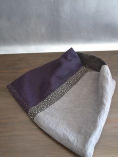 Japanese hobo bag with Sashiko stitching