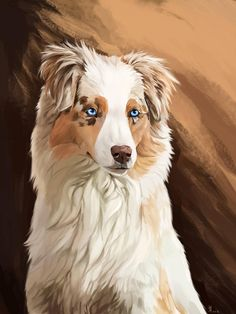 Cute Dog Drawing, Cute Animal Drawings, Dog Drawings, Shiloh Dog, Anime Character Drawing, Cute Fantasy Creatures, Aussie Dogs, Cute Little Animals, Dog Paintings
