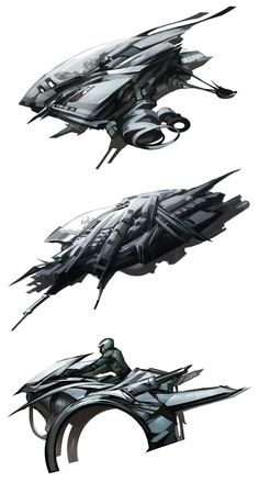 Sci-fi vehicle designs. They have a nice agile feeling to them