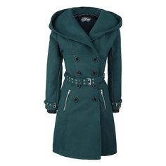 Decay Coat ❤ liked on Polyvore featuring outerwear, coats and blue coat