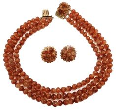 Vintage Signed Coppola e Toppo Italy Necklace & Earrings 1960