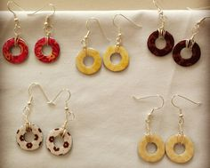 5 washer earrings