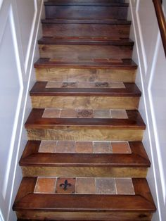 Stair Makeover, Wood Stone, Stone Tiles, Staircase Remodel