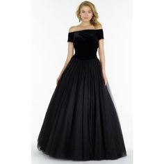 Alyce 6793 Ball Gown Long  Short Sleeve ($370) ❤ liked on Polyvore featuring dresses, gowns, black, formal dresses, prom ball gowns, long formal dresses, prom gowns, formal gowns and formal evening gowns