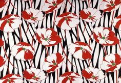 Dress fabric, by The Calico Printers Association. Printed rayon georgette. England, 1933.
