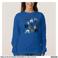 Alpacas Rock Female Sweatshirt