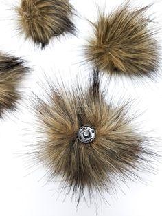 Brown Faux Fur Pom Poms – Warehouse 2020 Faux Fur Pom Pom, Medium Brown, Black Nylons, Pom Poms, Make It Yourself, Warehouse, Cord, Handmade, Buttons