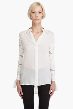 PREEN, WRAP SLEEVE SHIRT: on sale at $750. sorry preen, it's time to break out the thrift & scissors.