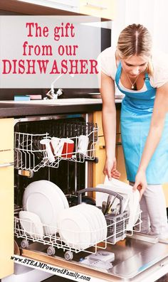 I didn't think my dishwasher held so much power in our lives but when we lost our dishwasher for over two months I discovered the gift from our dishwasher. via @STEAM Powered Family | Education, Activities & Mental Health
