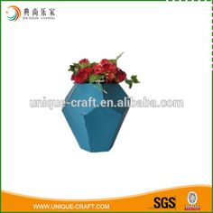 2016 geometrical feature metal flower planter for home decoration