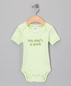 Look at this #zulilyfind! Urban Smalls Lime 'My Dad's a Geek' Organic Bodysuit - Infant by Urban Smalls #zulilyfinds