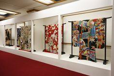 "Antique kimono exhibition room at the ""Japan Kimono Culture Museum"" in Koriyama, Fukishima Prefecture, Japan."