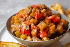 Side Dishes For Chicken, Side Dishes Easy, Vegetable Side Dishes, Vegetable Recipes, Eggplant Dishes, Eggplant Recipes, Caponata Recipe Giada, Cold Appetizers, Appetizer Recipes