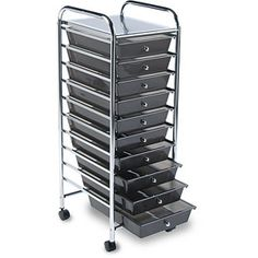 Cropper Hopper Home Center Rolling Cart, 10-Drawer