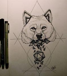 Tattoo Wolf 2 by MaryMaryLP.deviantart.com on @deviantART