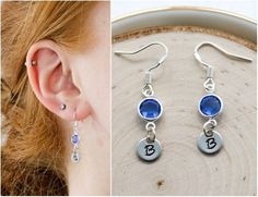 Solid .925 Sterling Silver Diamond /& Created Sapphire September Birthstone Earring Jacket 12x12mm