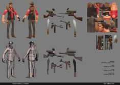 Tommy Tallian: Low Poly TF2