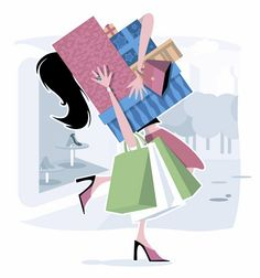 Image result for image of shopaholic