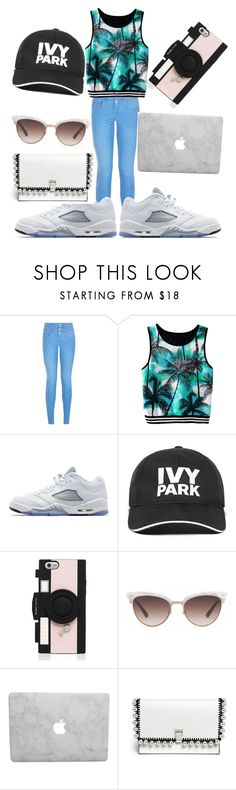 """""""Untitled #102"""" by swag345 ❤ liked on Polyvore featuring New Look, Jordan Brand, Ivy Park, Kate Spade, Gucci and Proenza Schouler"""